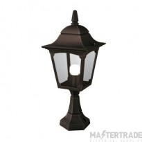 Elstead CP4 BLACK Chapel Exterior 1 Light Pedestal Lantern In Black
