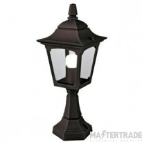Elstead CPM4 BLACK Chapel Mini Exterior Pedestal Lantern In Black