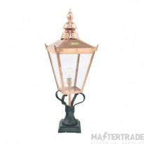 Norlys CS3 Chelsea copper outdoor pedestal lamp