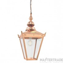 Norlys CS8 Chelsea Hanging Lantern Copper with Clear Lens