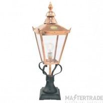 Elstead CSG3COPPER Ped Lantern E27 100W