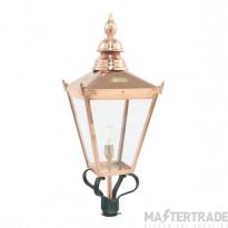 Norlys CSG/HO Chelsea 1 Light Lantern Head Light In Copper - For 49mm Dia Post