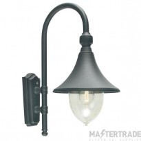Norlys F2 BLACK Firenze 1 Light Outdoor Wall Light In Black