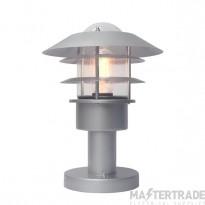 Elstead HELSINGOR PED Helsingor 1 Light PED Pedestal Lantern Light In Silver