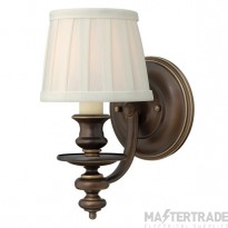 HK/DUNHILL1 Dunhill 1 Light Royal Bronze Wall Light with Shade
