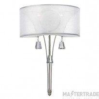 HK/MIME2 Mime 2 Light Brushed Nickel Wall Light with Square Crystals