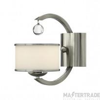 HK/MONACO 1 Light Brushed Nickel & Glass Modern Wall Light