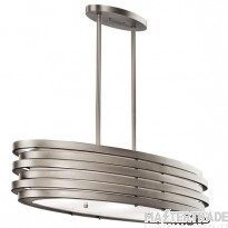 KL/ROSWELL/ISLE Roswell Oval Nickel Island Pendant Linear Design