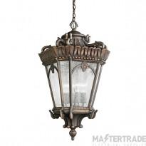 Elstead KL/TOURNAI8/M Tournai 1 Light Medium Chain Lantern Ceiling Light In Londonderry