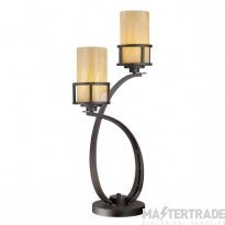 QZ/KYLE/TL Kyle 2 Light Imperial Bronze Table Lamp with Onyz Shades