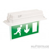 ELP Fusion Exit LED RECESSED EXITLED Maintained exit (enclosure as Fusion Flush) Dali-Test