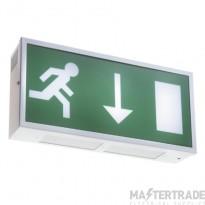ELP MD/LED/M3/WH Metal LED Emergency Exit Box 3hrM