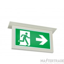 ELP ME/RECE/DALI/WH LED Mexodus Emergency Recessed Exit Blade White Dali-Test