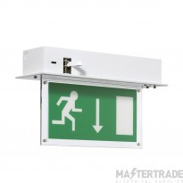 ELP RLD/M3/BR SignalLED LED Emergency Recessed Exit Blade 3hrM Brass