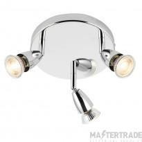 Endon 43279 Amalfi Triple Ceiling Spotlight in Polished Chrome Finish