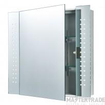 Endon 60894 Ravelo Bathroom Shaver IR Mirrored Cabinet