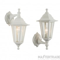 Endon 60965 Bayswater Outdoor White Wall Light