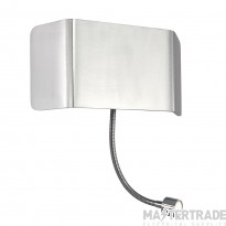 Endon 67087 Verona 2 Light Wall Light With Flexi LED Arm In Polished Aluminium And Chrome Plate