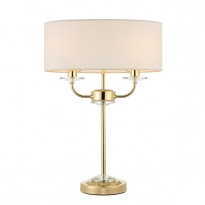 Endon 70564 Nixon Table Lamp 2xE14 Candle - Brass