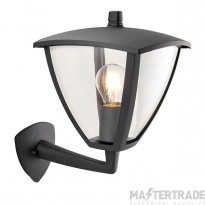 Endon 70695 Seraph 1 Light Wall Light In Textured Grey And Clear Plastic