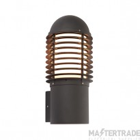 Endon 72385 Louvre One Light Outdoor Wall Light In Textured Black