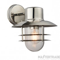 Endon 74703 Jenson 1 Light Outdoor Wall Light In Polished Stainless Steel - Height: 250mm