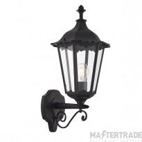 Endon 76546 Burford 1 Light Outdoor Wall Light In Matt Black - Height: 490mm