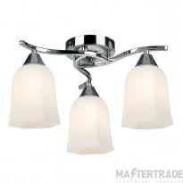 Endon 96963-CH Ceiling Light SES 3x40W