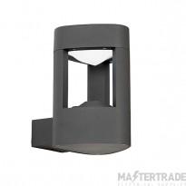 Endon EL-40074 Outdoor Aluminium LED Black Finish Wall Light
