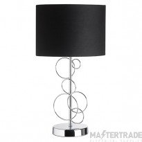 Endon FINCHLEY-TLCH Chrome Table Lamp With Fabric Shade