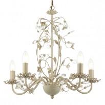 Endon LULLABY-5CR Lullaby Cream Gold 5 Light Flush Ceiling Light
