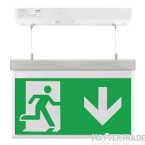 ESP LED 2W Maintained Hanging Exit Sign Legend Down