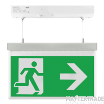 ESP LED 2W Maintained Hanging Exit Sign Legend Right