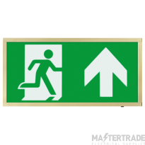 ESP 3W LED Maintained Emergency Exit Box Brass Sign UP