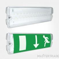 Eterna Lighting EMLED3NM LED Emergency Exit Surface Bulkhead 3hrNM IP65