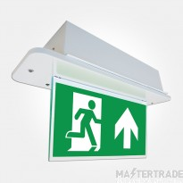 Eterna SELMDDEM3 LED Emergency Recessed Exit Blade with edge lit panel and diffuser Self-Test