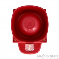 Symphoni G1 LX Wall Sounder Beacon WP, Red Body, White Flash, IP66