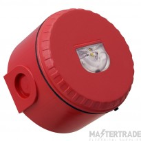 Solista LX Wall Beacon, Red Body, White Flash, Deep Base