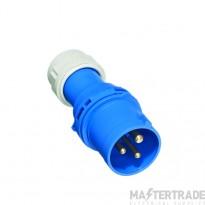 Europa IP323P IP44 Industrial Plug 2P+E 32A 230V Blu