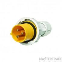 Europa IPW163F IP44 Industrial Plug 2P+E 16A 110V Yellow