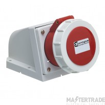 Europa ISSW1255N Industrial Socket 3P+N+E 125A 415V Red