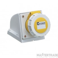 Europa ISSW323F Industrial Socket 2P+E 32A 110V Yellow