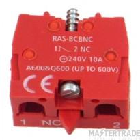 Europa RAS-BCBNC Aux Contact Block NC