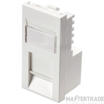 100-275 Excel Category 5e (UTP) Office Unscreened Low Profile Euromod RJ45 Module - White