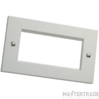 Excel 100-718-BK Flate Plate 2 Gang Blk