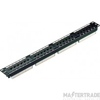100-726 Excel Category 5e Unscreened Patch Panel 24 Port 1U - Black