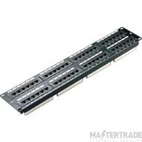 100-728 Excel Category 5e Unscreened Patch Panel 48 Port 2U - Black