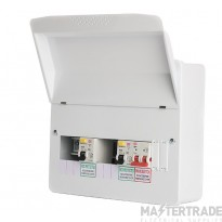 FuseBox F1010DX100 Dual RCD Flex 10 Usable Ways Consumer Unit SPD T2 F1010DX100 (9 Usable ways)