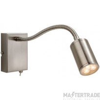 Firstlight Orion LED 3454BS Brushed Steel Flexible Wall Reading Lamp