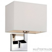 Firstlight 3458CR LEX One Light Wall Light In Polished Stainless Steel With Cream Shade